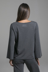 Comfortable Wide Arm Sweatshirt back view