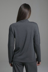 Layering Pullover Long Sleeve Top back view