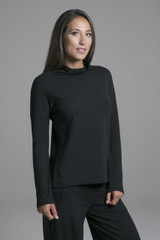 Black Loungewear Long Sleeve Top