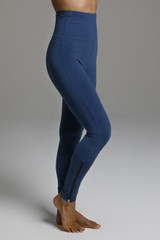 Compressive High Rise Blue Yoga Tights