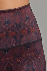 Ornamental print close-up