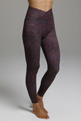 Wrap Waist Print Yoga Legging side view