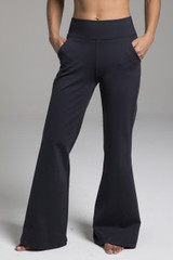 High Rise Wide Legged Yoga Pants with Pockets