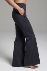 Wide Flare Black Sweatpants side view