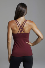 Grace Double Strap Yoga Tank with Strappy Back