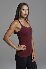 Bordeaux Red Yoga Cami side view