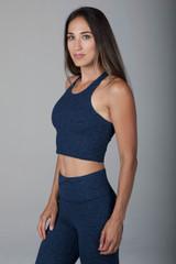 Grace Vinyasa Yoga Crop Top (Iris Heather) side