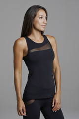 Black Rendezvous Yoga Tank Top Side View