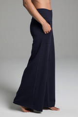 Cozy Boho Yoga Pant (Navy) side view with pockets