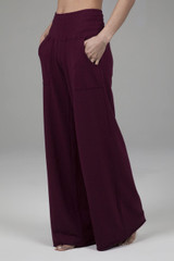 cozy yoga bottom with wide leg and pockets