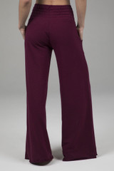 Cozy Boho Yoga Pant (Merlot) back view with pockets
