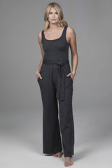 Jumpsuit in Charcoal Heather