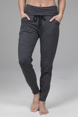 Easy Foldover Jogger (Charcoal Heather)