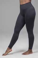 Ribbed Seamless Yoga Legging in Black