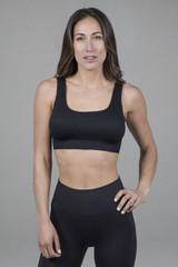 Seamless activewear bra