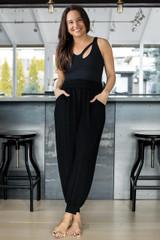 seva bodysuit with harem jogger on Tiffany Cruikshank