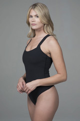 yoga bodysuit with straps