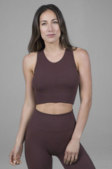 Seamless High Neck Activewear in brown