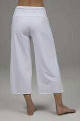 flowy white yoga pant