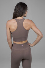 yoga bra in fawn color