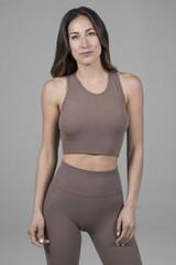 yoga bra in seamless fabric