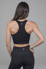 classic black yoga bra