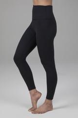 High Waist Black Yoga Tights ankle length