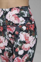 Spring floral print activewear bottoms