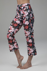Cropped Flare Yoga Pant in Floral Print