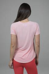 Light Pink Yoga Tee back view