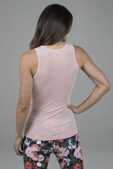 Light Pink Yoga Tank Top high coverage top back view