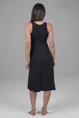 Flattering Black Casual Dress