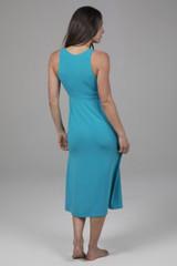 Flattering Spring Blue Midi Dress