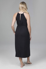 Black Mid Length Halter Dress
