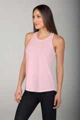 easy long yoga top in pink