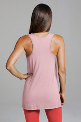 Long Racerback Yoga Top in Pink
