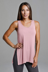 Loose Yoga Tank in Blossom Pink
