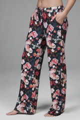 Wide Leg Lounge Pant in Vintage Floral Print