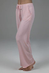 Light Pink Loungewear Bottoms with Pockets