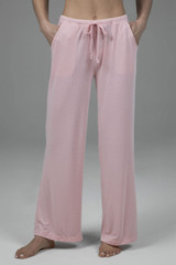 Wide Leg Lounge Pant with Drawstring in Blossom Pink