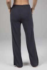 Cozy Wide Leg Yoga Sweats in Dark Grey