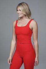 red yoga crop top