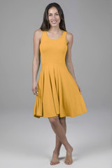 Fit & Flare Yoga Dress (Marigold)