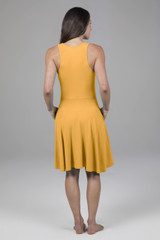 yellow dress with pockets