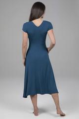 blue yoga dress