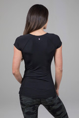 Back Sleek Performance Tee Black