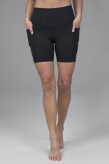 Duchess Biker Short Black Front