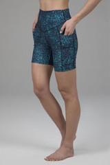 Duchess Biker Short Blue Leopard Side