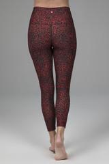 red leopard yoga legging