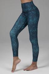 Renew Ultra High Waist 7/8 Yoga Legging (Blue Leopard)